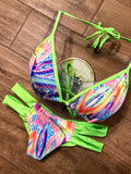 Neon Feathers Top