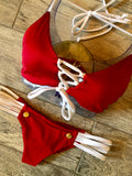 Red & White Mia Anchor Bottom