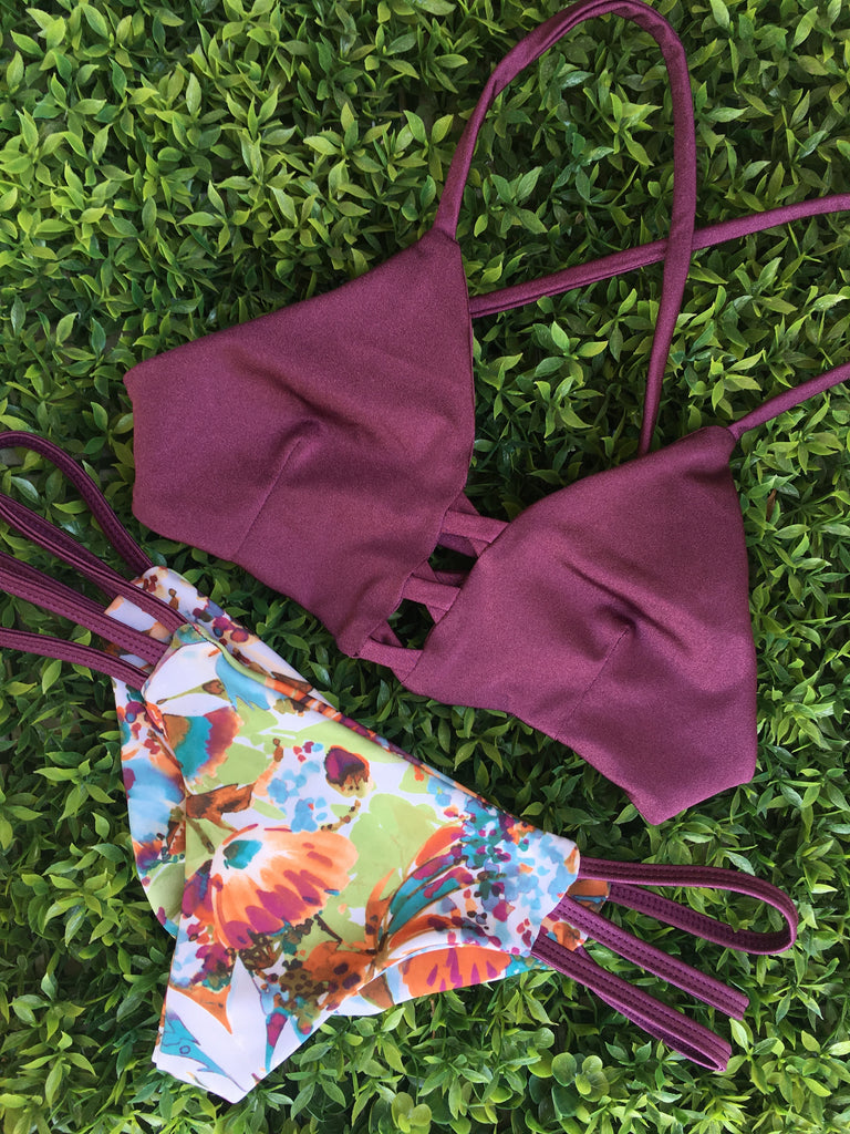 Burgundy Monica Top