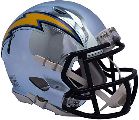 MINI CASCO SPEED CHROME LOS ANGELES CHARGERS RIDDELL