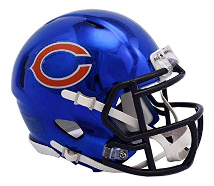 MINI CASCO SPEED CHROME CHICAGO BEARS RIDDELL