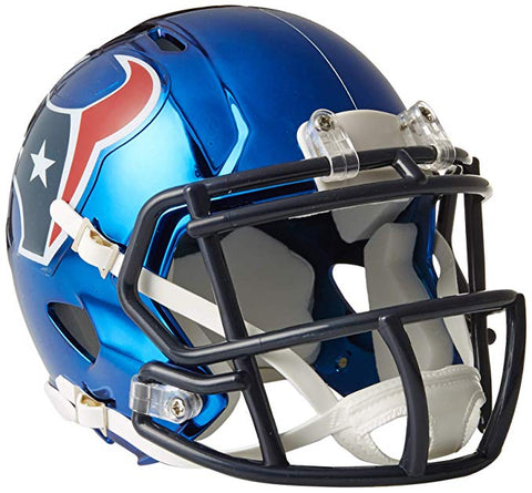 MINI CASCO SPEED CHROME HOUSTON TEXANS RIDDELL