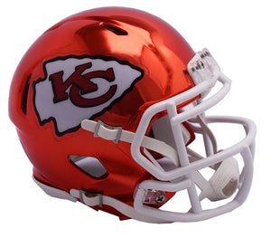 MINI CASCO SPEED CHROME KANSAS CITY CHIEFS RIDDELL