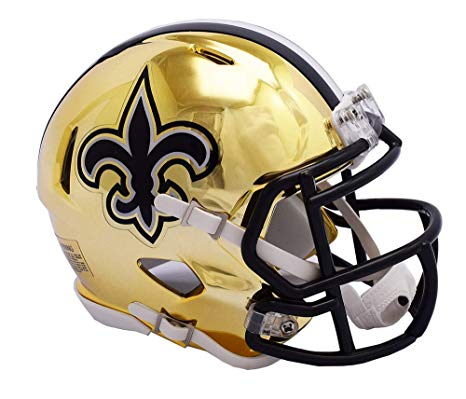 MINI CASCO SPEED CHROME NEW ORLEANS SAINTS RIDDELL
