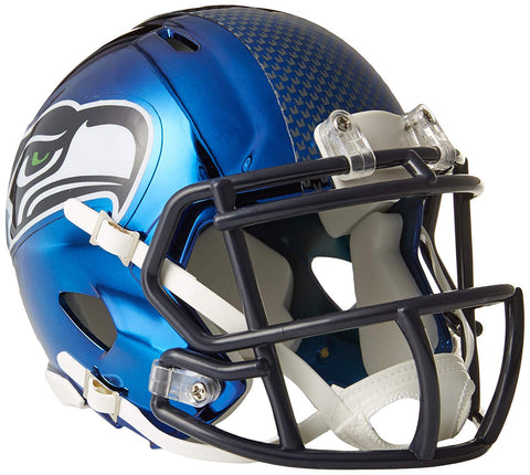 MINI CASCO SPEED CHROME SEATTLE SEAHAWKS RIDDELL