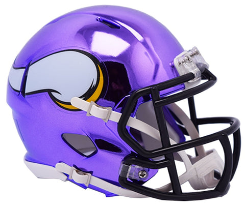 MINI CASCO SPEED CHROME MINNESOTA VIKINGS RIDDELL