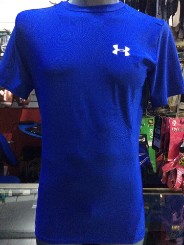 Playera Under Armour Compresión Azul Manga Corta