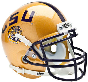 Mini Casco Schutt - LSU Tigers Dorado