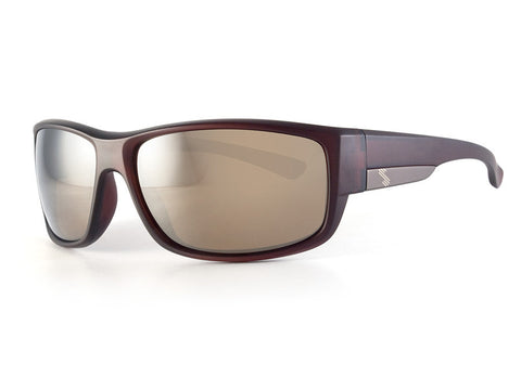 Brown-Gold Mirror Polarized/Matte Crystal Brown