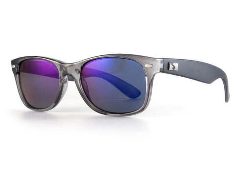 Smoke-Blue Mirror Polarized/Crystal Grey