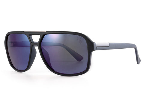 Smoke (Lt. Blue Mirror) Polarized - Matte Black