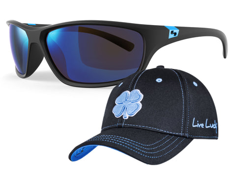 DASH TrueBlue Polarized + Black Clover Hat