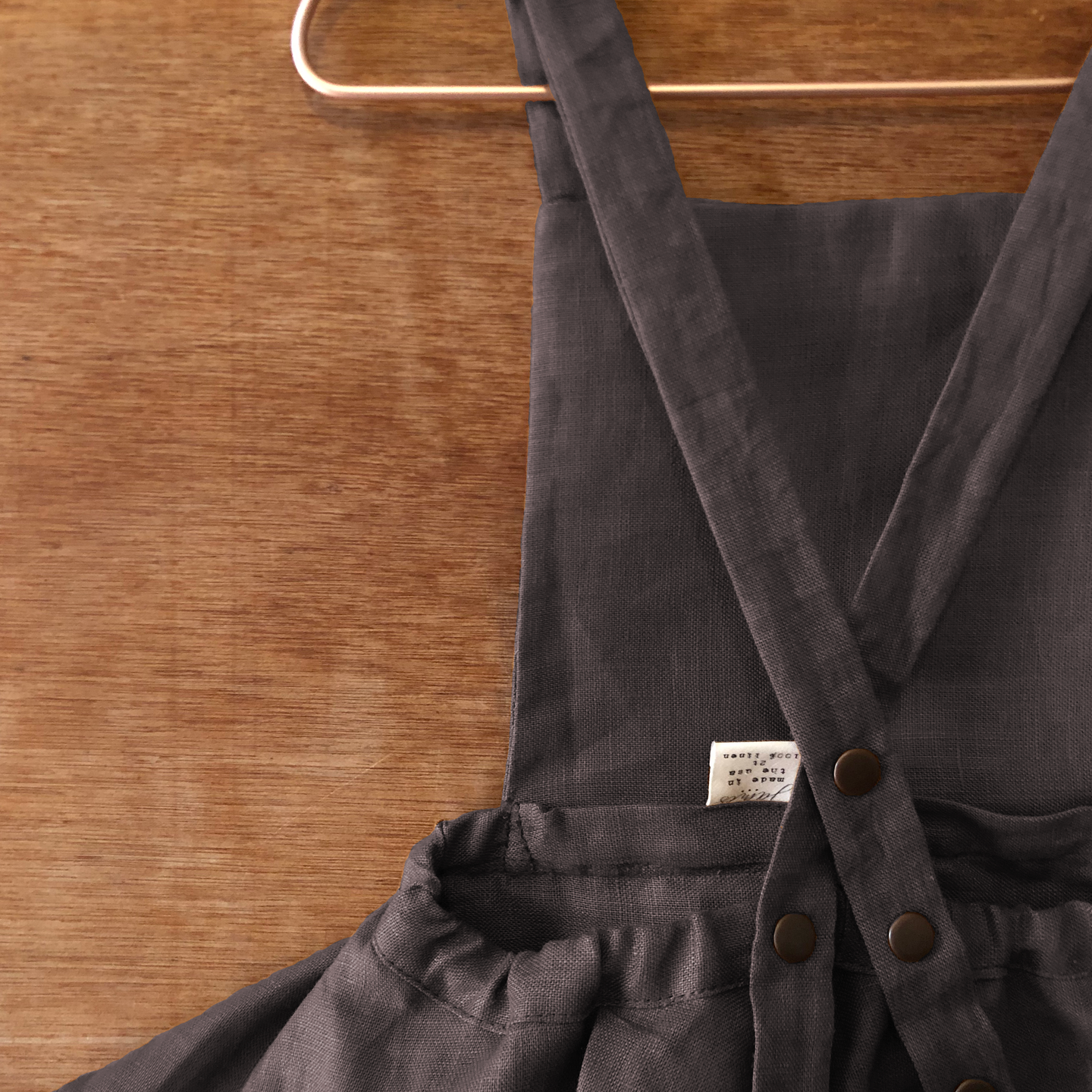 the evelyn mid-length pinafore.