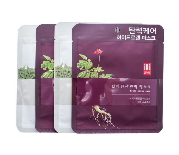 Illi 4 Sheet Mask Set - Green Tea & Ginseng