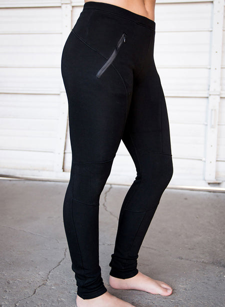LEGGINGS | Move Society Crew Fleece Zip Pocket | Black