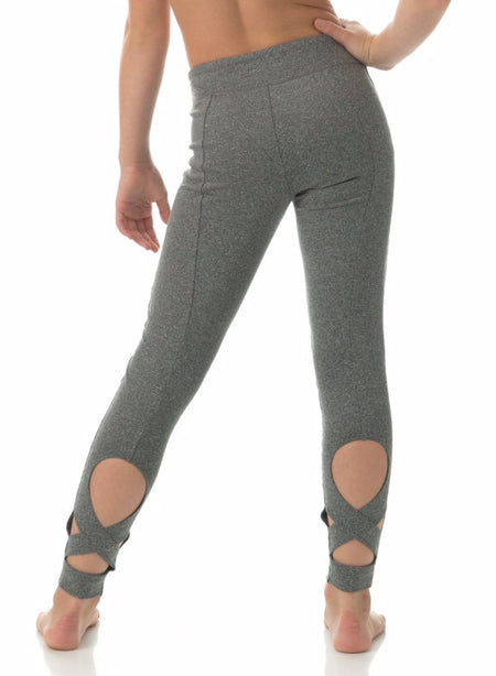 LEGGINGS | Wrap Leggings | Grey