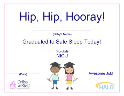 NICU Safe Sleep Certificate
