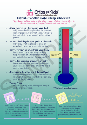 Infant-Toddler Safe Sleep Checklist-Temperature Card