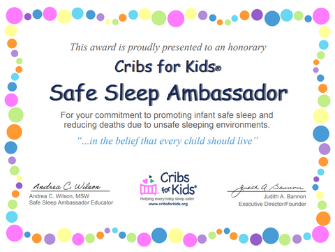 Safe Sleep Ambassador Certificate