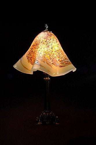 Custom hand blown murano glass lighting tagged hand blown glass lowerys hand blown glass table lamp vanilla diane mozeypictures Images