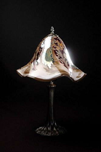 Lowery's Hand Blown Glass Table Lamp - Light Beige Jack