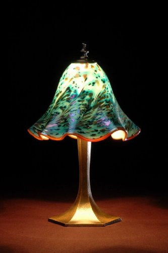 Lowery's Hand Blown Glass Table Lamp - Sea Green Old Boy