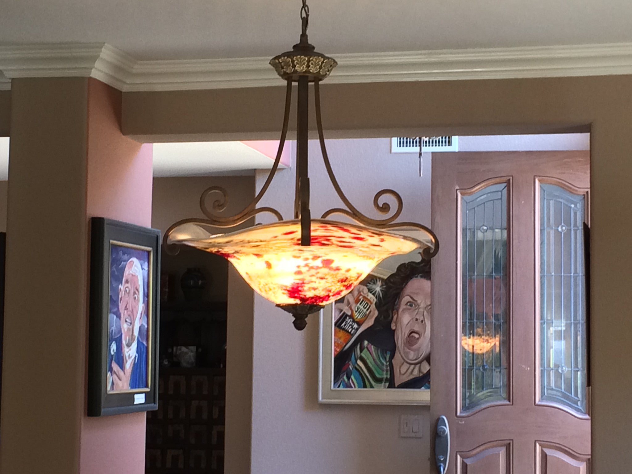 Hand Blown Glass Chandelier Nell – Lowery s Hot Glass