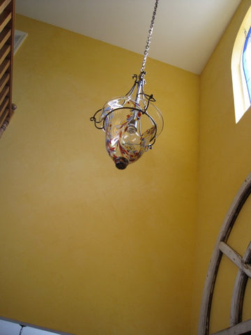 Hand Blown Glass Chandelier - Dot's Drop Pendant