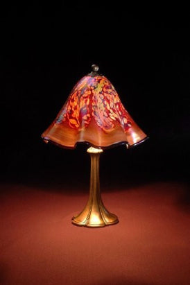 Lowery's Hand Blown Glass Table Lamp - Golden Brown Jack