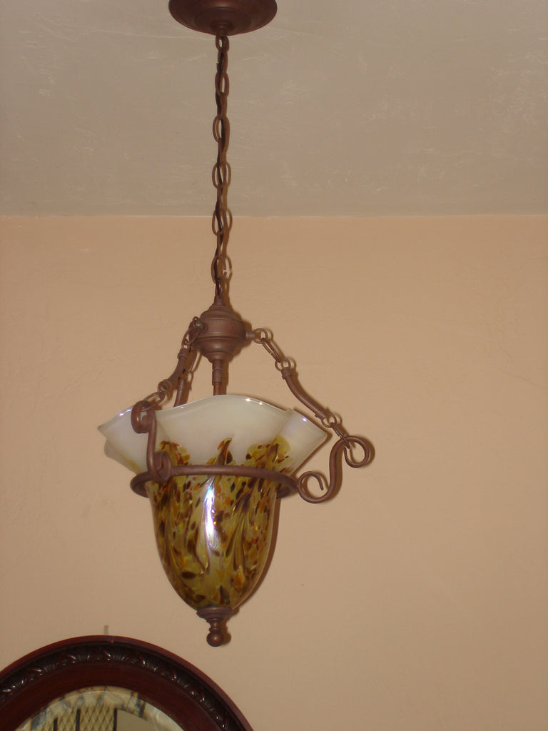 Hand Blown Glass Chandelier - Drop Pendant