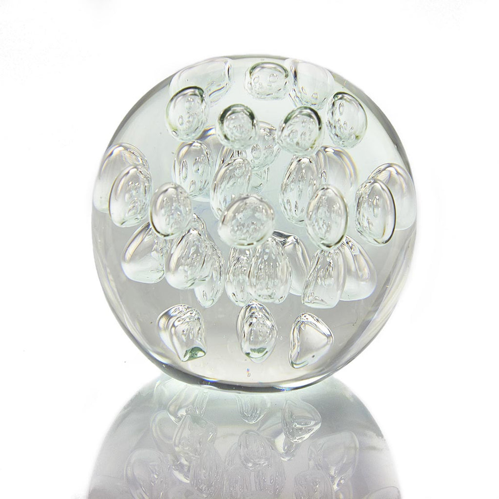 Clear Air Bubble Paperweight