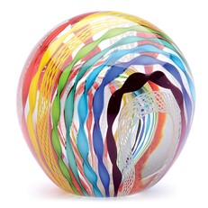"Glass Handmade Large Paperweight - Rainbow - 4"" tall. One-of-a-kind. FREE SHIPPING to the lower 48 when you spend over $35.00"