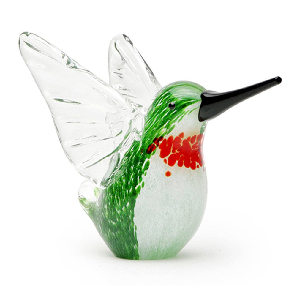 "Handmade Glass - Hummingbird - Green - 4.25"" Tall - FREE Shipping to lower 48 on all orders over $35"
