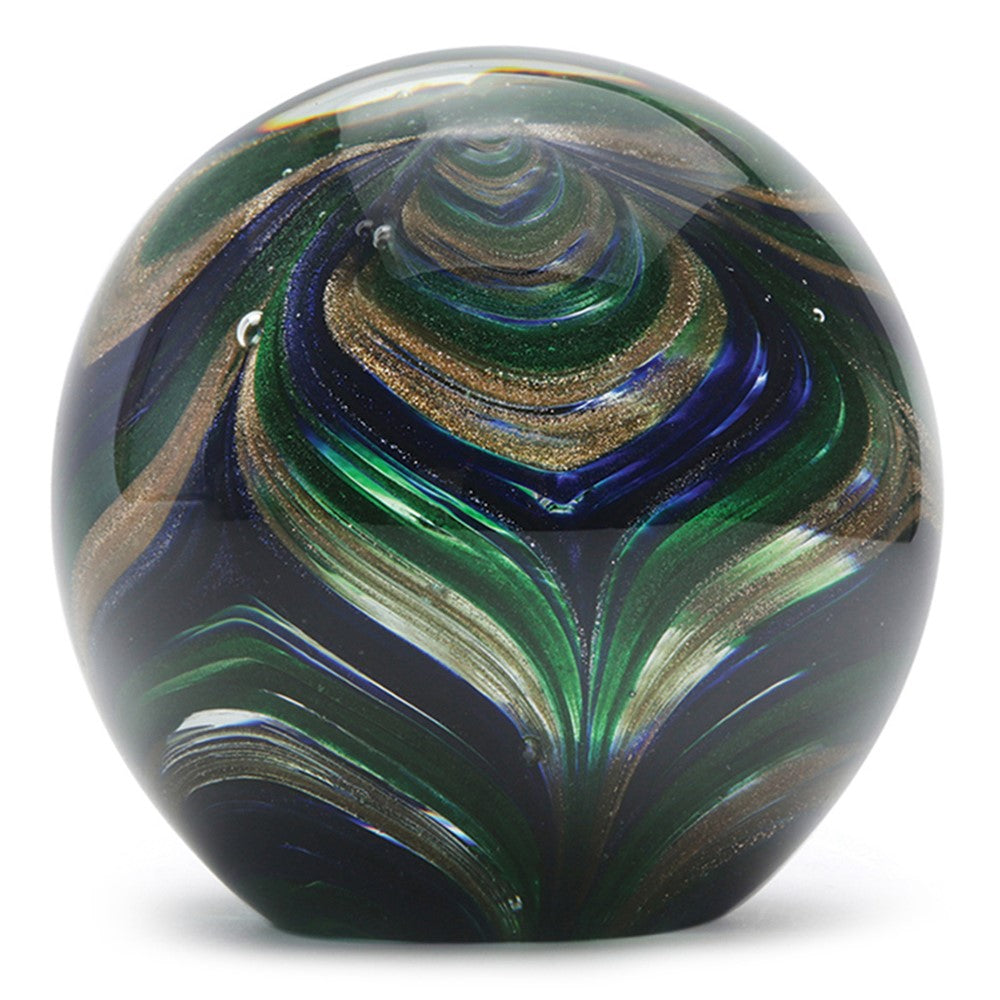 "Large Paperweight- Peacock- 4"" Height- FREE Shipping to lower 48 on all orders of $35"