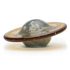 "Handmade Glass Paperweight - Saturn Glow - 4"" Tall - FREE Shipping to lower 48 on all orders over $35"