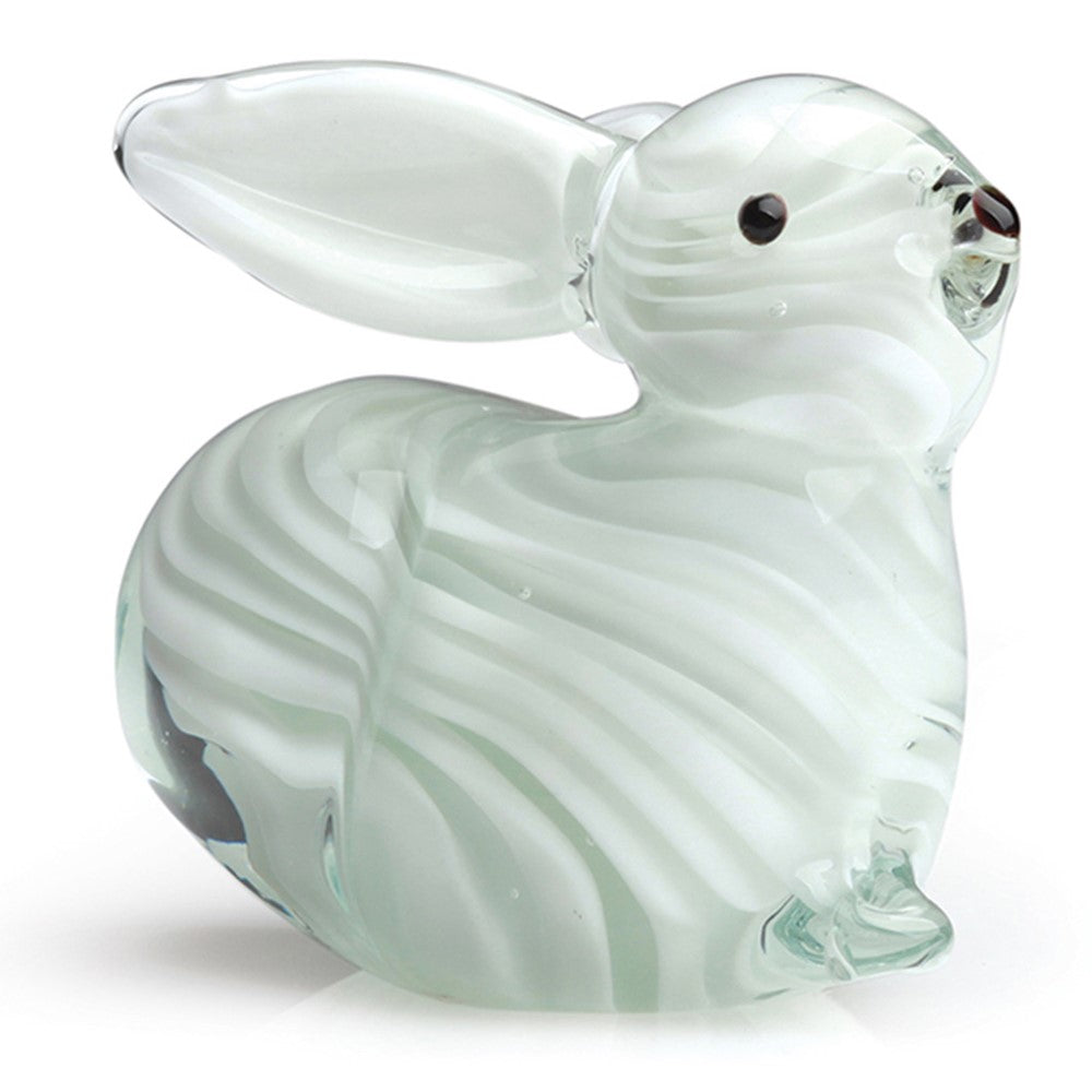 "Handmade Glass - Rabbit - 4"" Length - FREE Shipping to lower 48 on all orders over $35"
