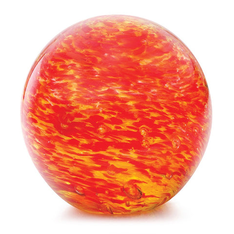 "Glass Handmade Large Paperweight - Planetarium Sun Glow - Glow in the Dark - 4"" tall. One-of-a-kind. FREE SHIPPING to the lower 48 when you spend over $35.00"