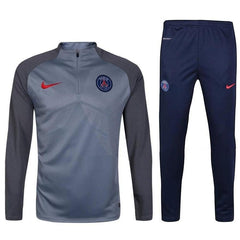 Paris Saint-Germain 2017 Grey Pre-Match Tracksuit - IN STOCK NOW - TNT Soccer Shop