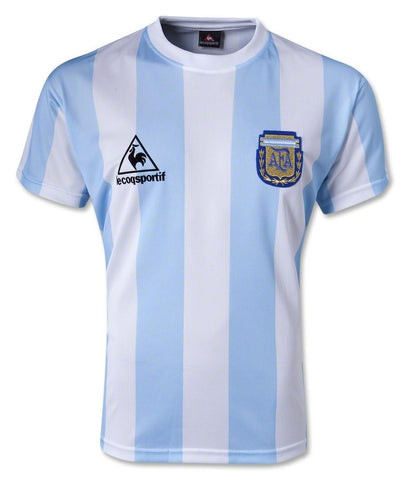 1986 Argentina Retro Home Soccer Jersey - IN STOCK NOW - TNT Soccer Shop