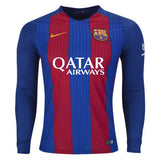 Barcelona 16/17 Home LS Jersey Ready to Ship! Long Sleeve Jersey TNT Soccer Shop