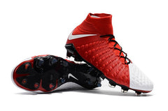 Hypervenom Phantom III DF FG - Red & White READY TO SHIP! - IN STOCK NOW - TNT Soccer Shop