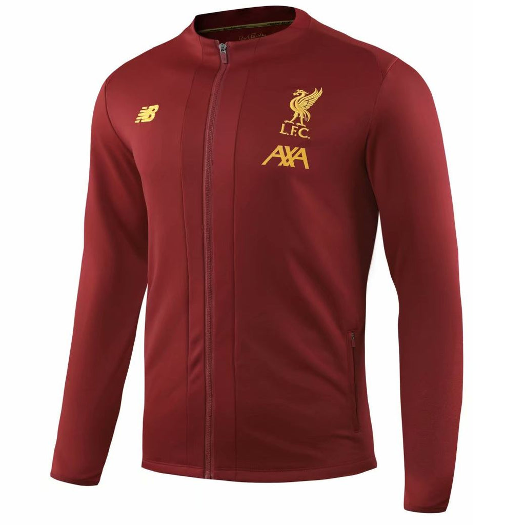 Liverpool 19/20 Red Burgundy Presentation Jacket Jacket TNT Soccer Shop
