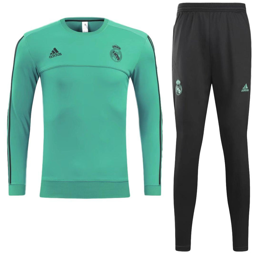 hot sale online e26fb df76c Real Madrid 17/18 Teal Tracksuit