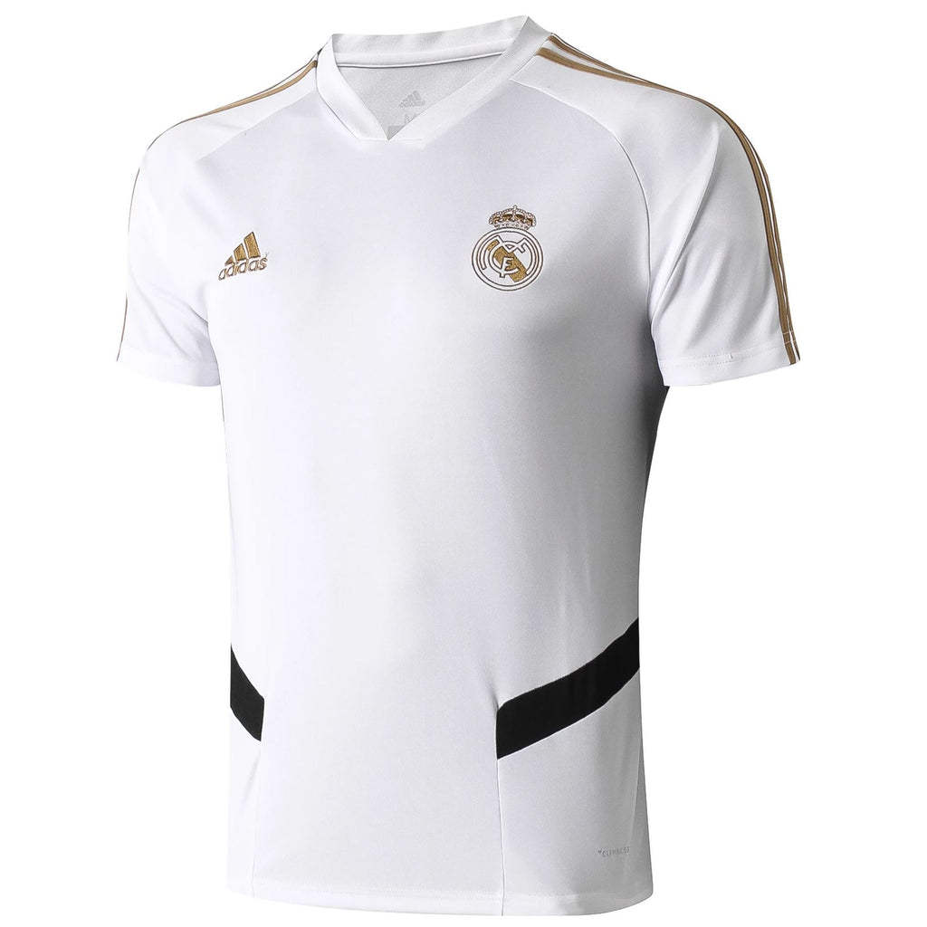 Real Madrid 19/20 White Pre-Match Training Jersey Training Jerseys TNT Soccer Shop