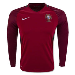 Portugal 2016 Home LS Jersey Personalized Long Sleeve Jersey TNT Soccer Shop