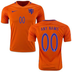 Netherlands 2016 Home Jersey Personalized Jersey TNT Soccer Shop