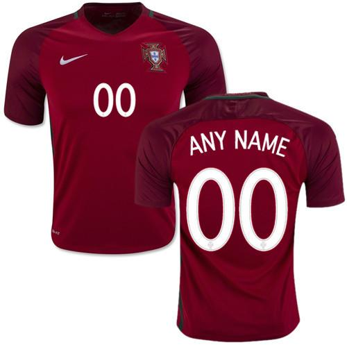 Portugal 2016 Home Jersey Personalized Jersey TNT Soccer Shop