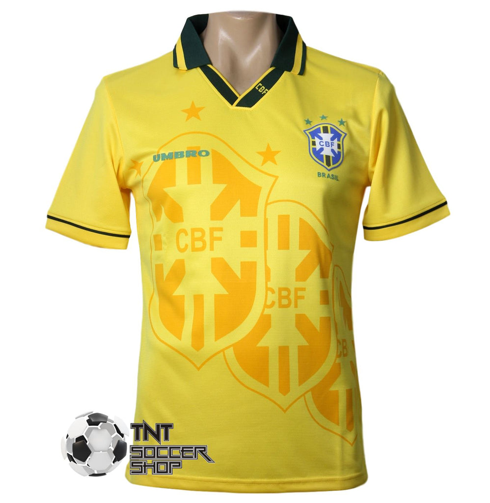 Brazil 1993 Retro Home Jersey Jacket TNT Soccer Shop