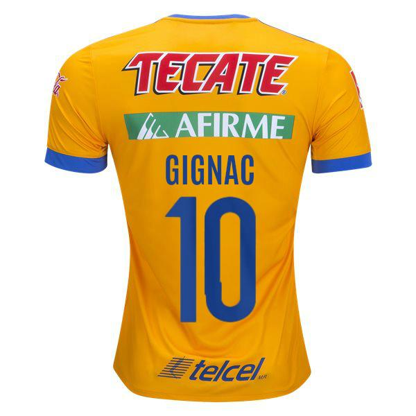 Tigres UANL 17 18 Home Jersey Gignac  10 - IN STOCK NOW - TNT 524c5ed39