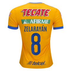 Tigres UANL 17/18 Home Jersey Lucas Zelarayán #8 - IN STOCK NOW - TNT Soccer Shop